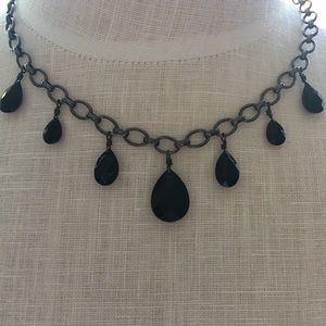 Vintage Carolee Black Chain & Previous Stones